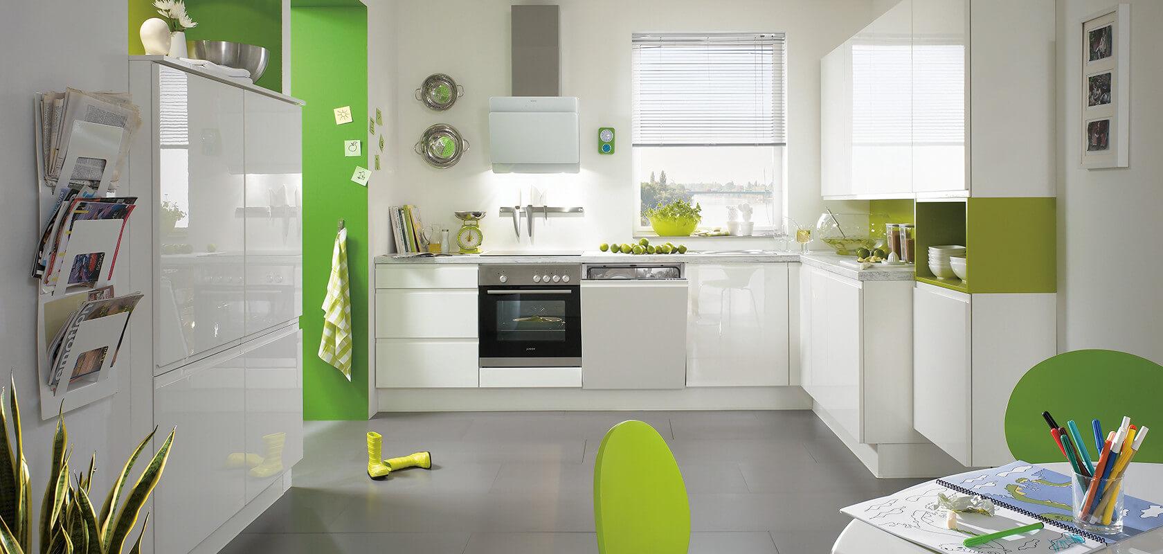 zielono-szara kuchnia
